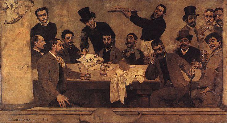Columbano Bordalo Pinheiro:O Grupo do Leão, 1885.