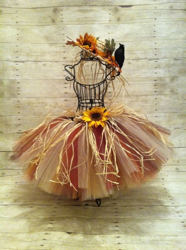New Products/Designs - Motherfly Kisses    Scarecrow inspired tutu and straw hat hair clip- Made by Lisa @ Motherfly Kisses Children's Boutique    ©Motherfly Kisses Children's Boutique