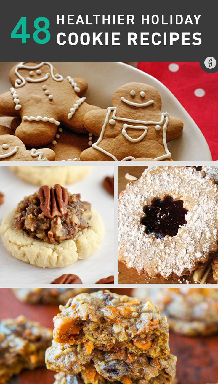 48 Healthier Holiday Cookie Recipes #healthy #cookies #holidays