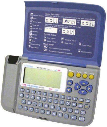 Citizen MD-400 Multi-Function Kids Electronic Organizer, 32KB of memory, IR Data…