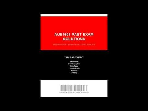 Aue1601 Past Exam Solutions jpg