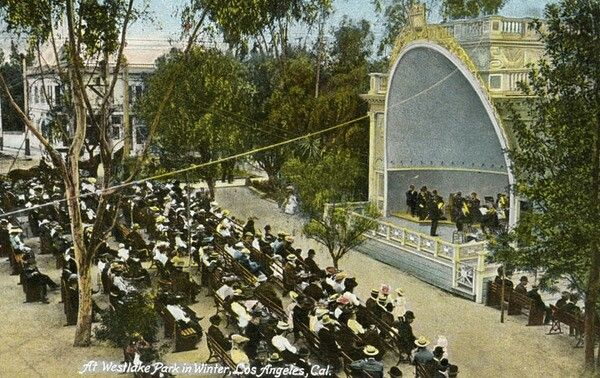 concert shell in MacArthur park