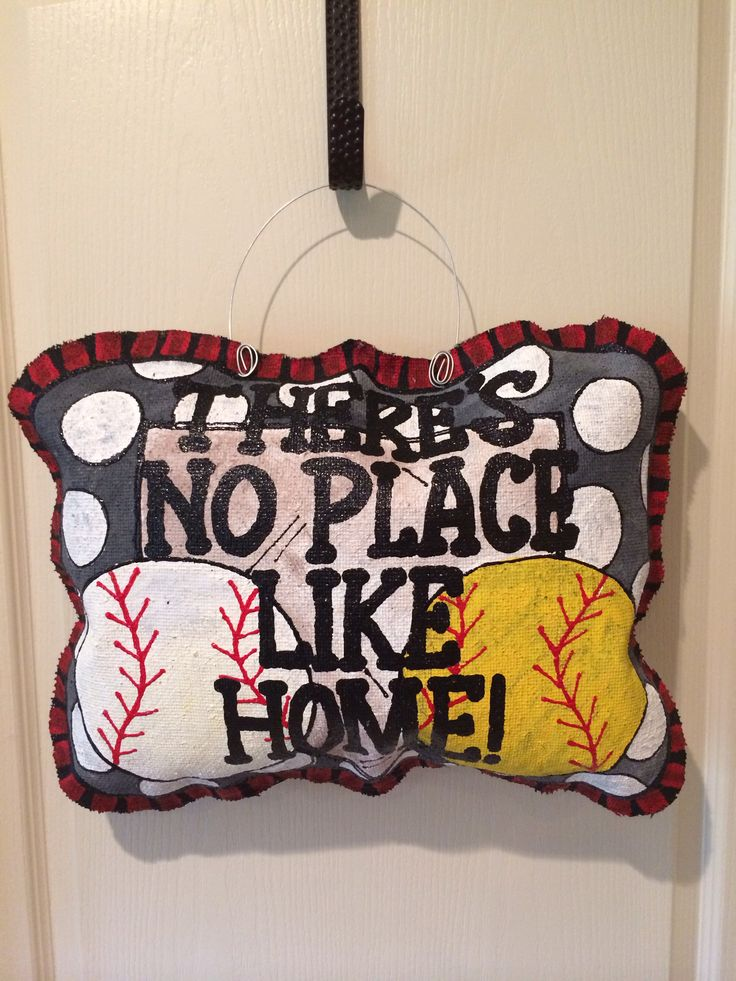 There's no place like HOME!! Burlap hanger