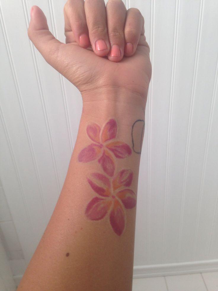 Watercolor Plumeria Tattoos