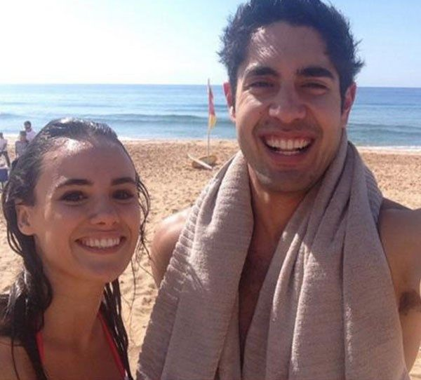 Cassie snaps a selfie with fellow cast member Tai Hara behind the scenes of Home And Away!