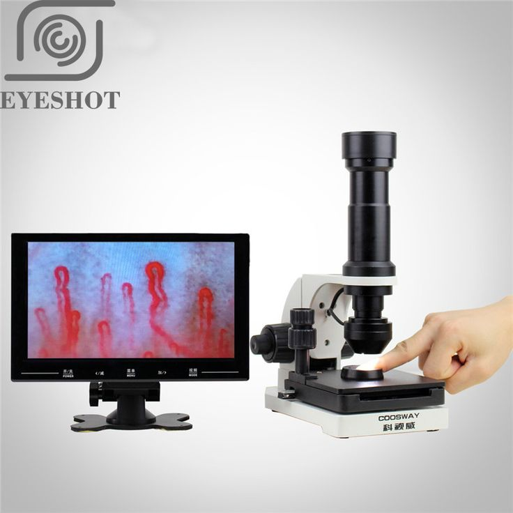 Promo 400X Inspection Zoom Monocular 9 10 Inch High Definitio 400X Led Microcirculation Detector #Handheld #Microscope