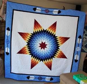 native american quilt patterns star quilts and eagle feathers. True high honor