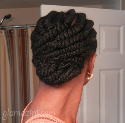 Creative way to twist my hair up for days before I twist out