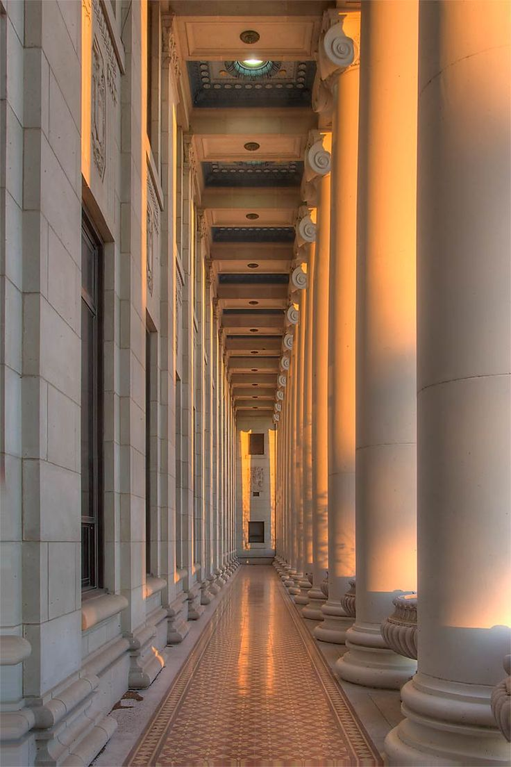 Columns of the Administration Building, Texas A & M University ... Love these - took my bridal portraits in front of them. :)