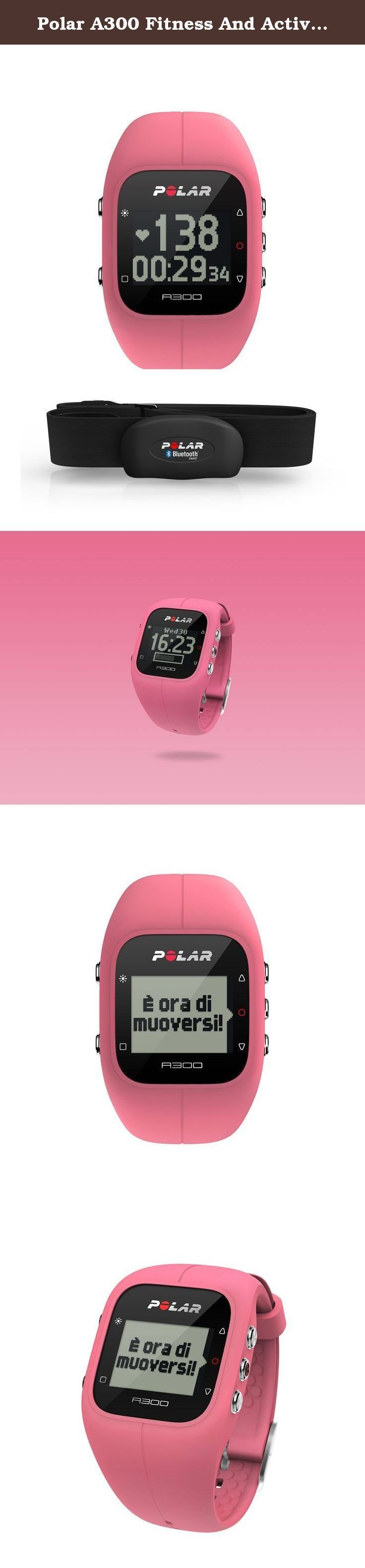 Polar A300 Fitness And Activity Monitor With Heart Rate Monitor - One - Pink. Match your mood and style with vibrantly coloured, easy-to-change wristbands. The durable silicone wristband of the waterproof A300 is light and comfortable to wear. The A300 shows your steps, distance, and burned calories, and motivates you to reach your activity goal. Train to your own beat with Polar H7 heart rate sensor and make sure your every move is counted for. The A300 automatically clocks both the…