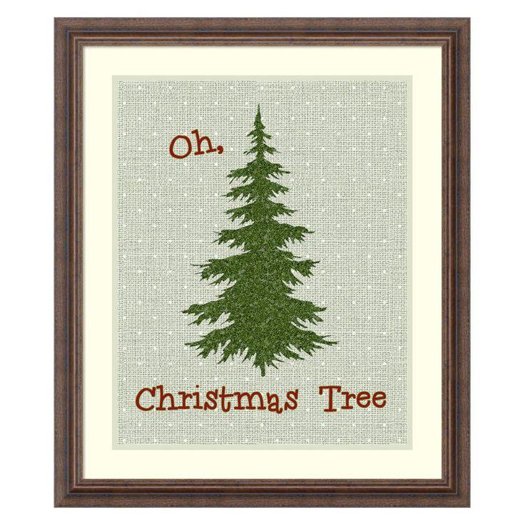 Amanti Art Oh Christmas Tree Framed Wall Art by Tara Moss - DSW3414830