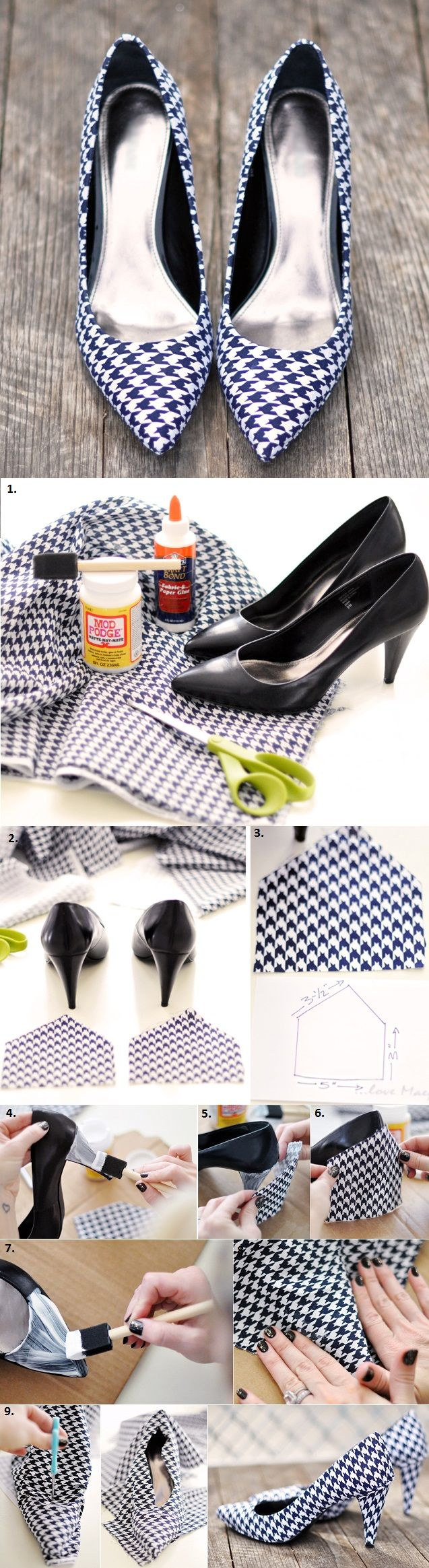Stylish Shoes Covered With Fabric - DIY