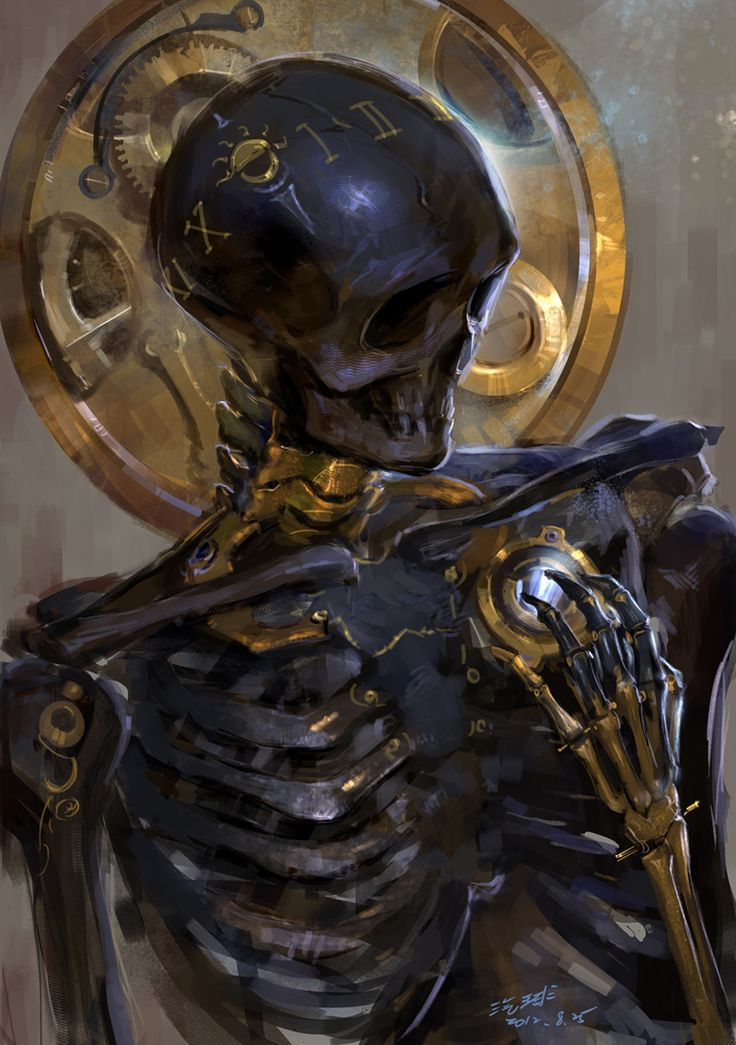 The nick of time by ~kyzylhum  #Steampunk #Dark #Skeleton