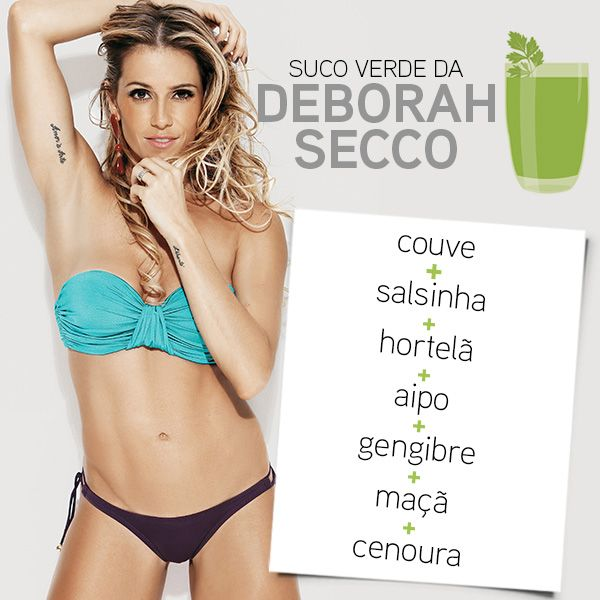Suco verde da Deborah Secco
