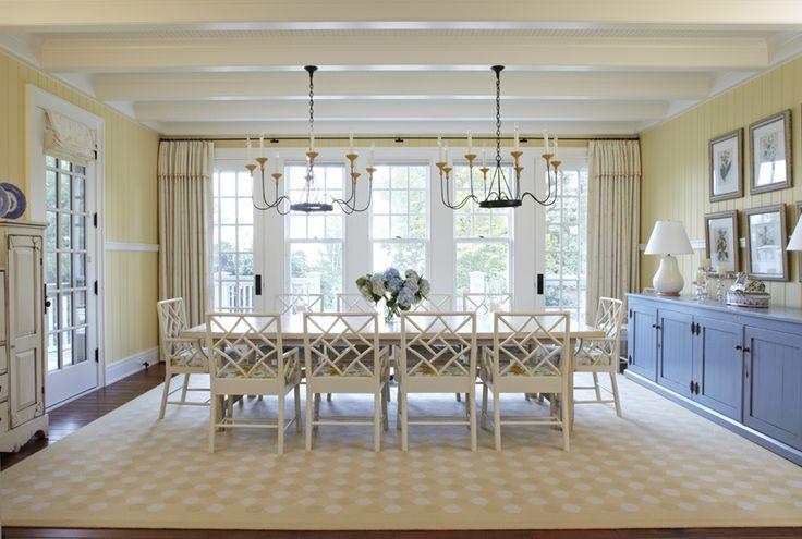 Michigan Summer Home Dining Room by #TomStringerDesignPartners #TSDP
