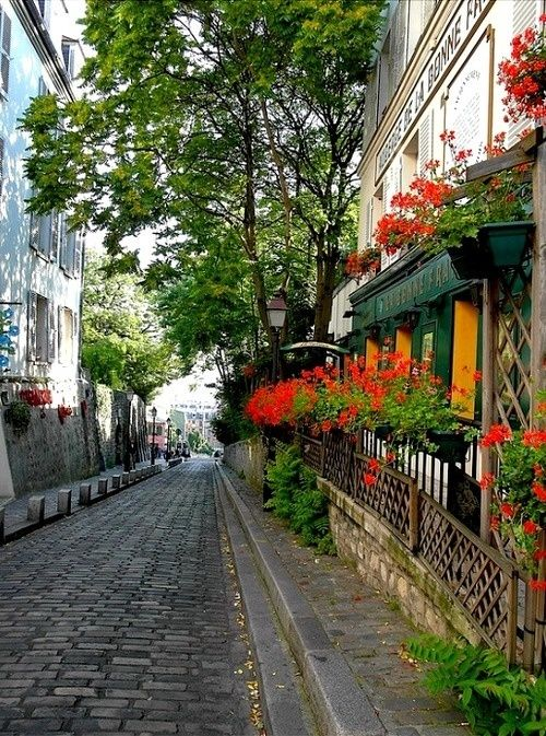 Cobblestone Street, Rue de Montmartre, Paris  photo via doug