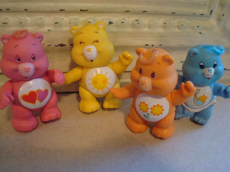 Carebears Kids Toys 1980s AGC Posable by VintageShoppingSpree