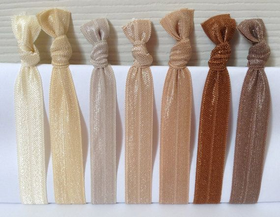 Set of 7 hair tie by AccesoriesSupplies on Etsy, $2.00
