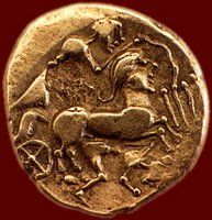 These coins are believed to have been minted around 75 to 5BC and were likely buried in order to protect the Celtic tribes wealth just before, or during, the first Roman invasions of northern and western France