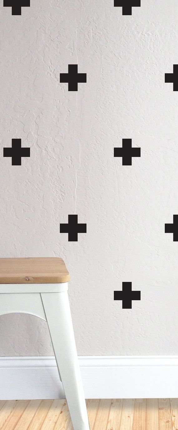 36 INDIVIDUAL - CROSSES 3.5X3.5 Fully removable and reusable wall decals that will brighten and add character to any room. **lots of color choices
