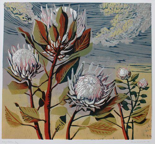 Anne Hickmott-stunning linocut