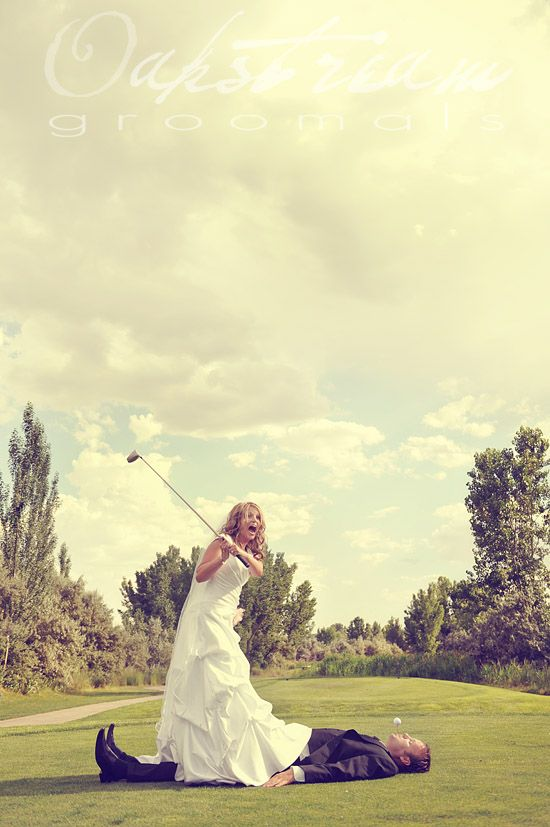Golf course wedding....this made me laugh! Make the picture bigger to see it better..