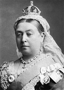 Queen Victoria (Alexandrina Victoria; 24 May 1819 – 22 January 1901) was the monarch of the United Kingdom of Great Britain and Ireland from 20 June 1837 until her death. From 1 May 1876, she used the additional title of Empress of India.