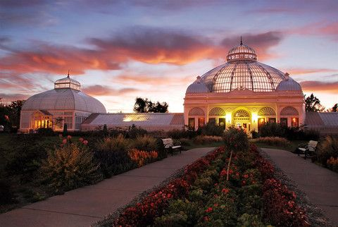 Buffalo Botanical Gardens, New York. Frederick Law Olmstead designed these gardens, which include Victorian style greenhouses and lovely grounds. Plenty of space for walkers, runners and picnics on the lawns.