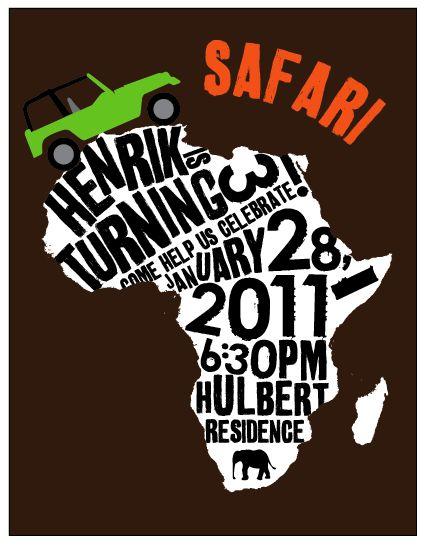 safari party invitations -- so cute!