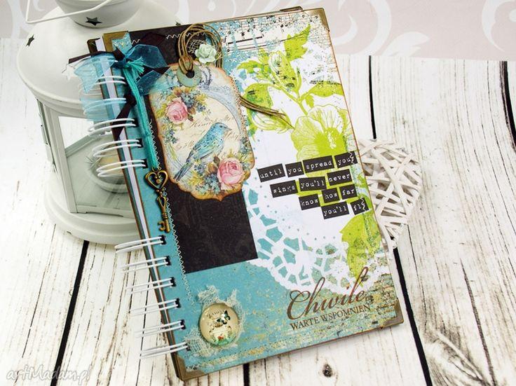 Pamiętnik- zaczarowanym ogrodzie scrapbooking notesy shiraja