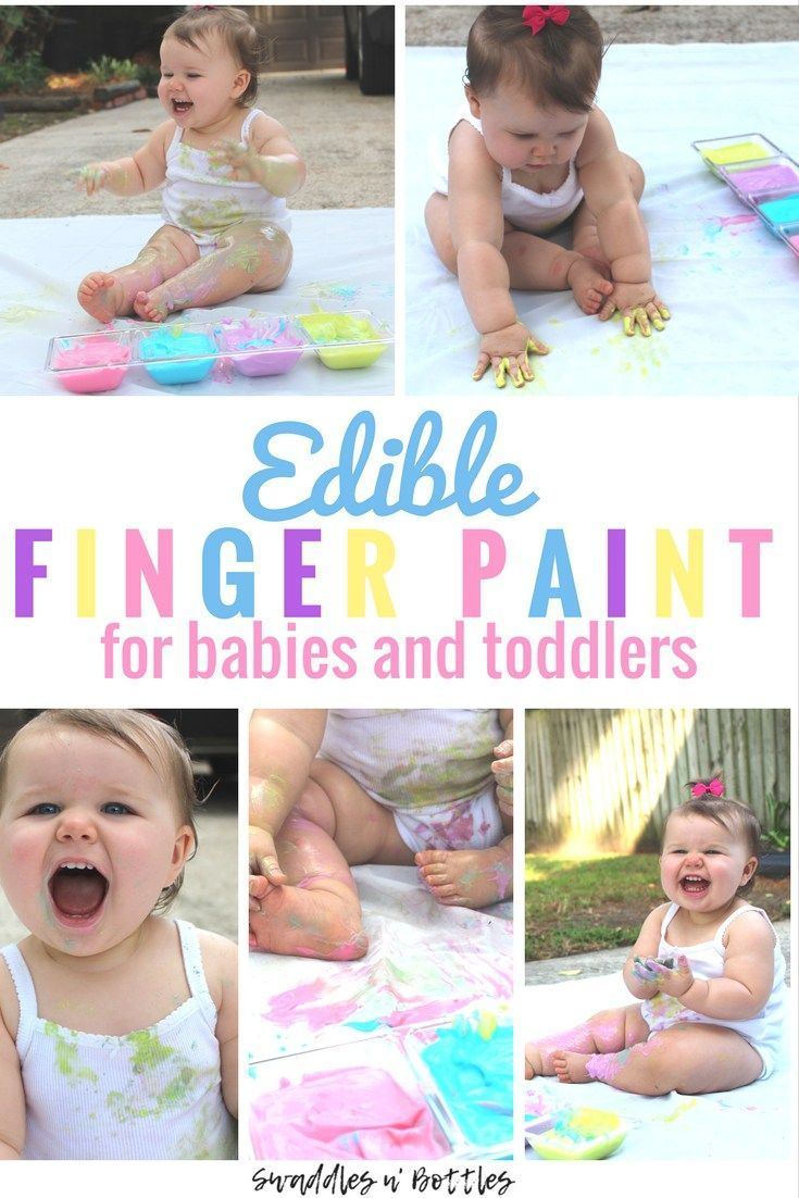 Edible Yogurt Paint for Babies and Toddlers- Fun Indoor or Outdoor Sensory activities for kids! Just two ingredients! Perfect rainy day activity! Fun ways to play with your baby!