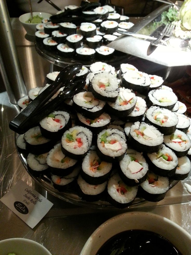 Hand rolled by our own staff, you'll love the California sushi.