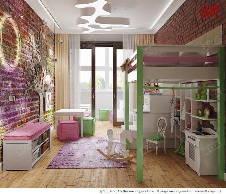 Дизайн современной детской для девочки http://www.ok-interiordesign.ru/blog/dizayn-yarkoy-detskoy-komnaty-dlya-devochki.html
