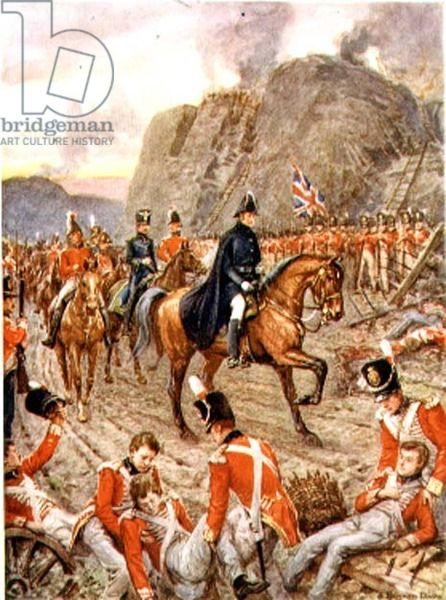 The Duke of Wellington (1769-1852) at the Siege of Badajos, 1812 from 'Heroes of History', pub. by Raphael Tuck & Son Ltd., London (book ill...
