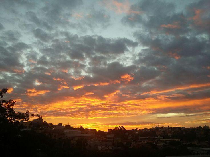 pôr do sol em Belo Horizonte