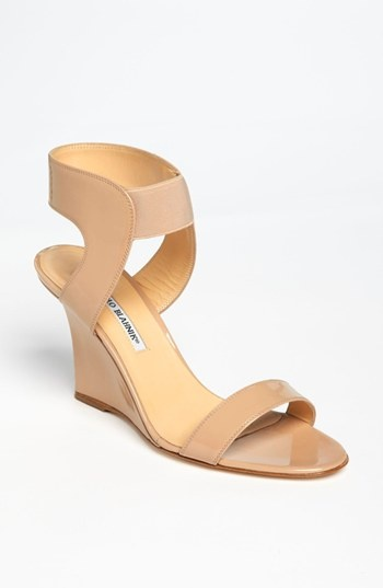 Manolo Blahnik 'Pepe' Wedge Sandal available at #Nordstrom Prom 3inch
