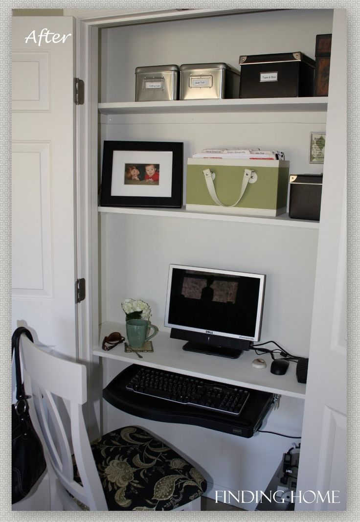 1000 Images About Closet Computer Room On Pinterest