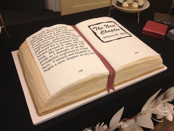 Book Cake To Mark The Retirement Of 19 Public Library