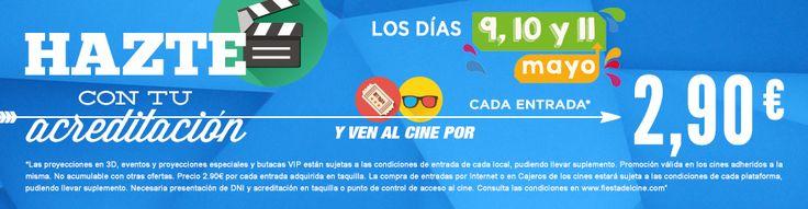Hazte con tu acreditación y ven al cine por 2,90€