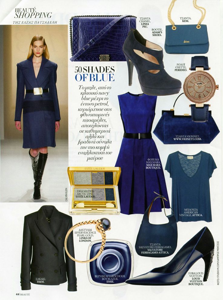 Fifty shades of #blue! #Oxette #couture #timewear - #beaute November issue