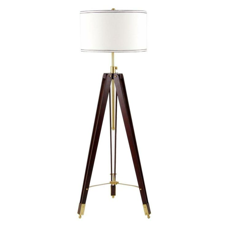 Home Depot · This On Trend Tripod Floor Lamp Includes A Cord Cover To Keep  Things Nice And