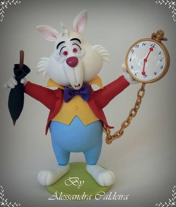 White rabbit pocket watch alice in wonderland