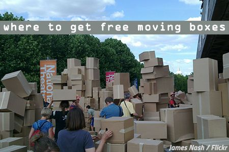 Free moving boxes near me