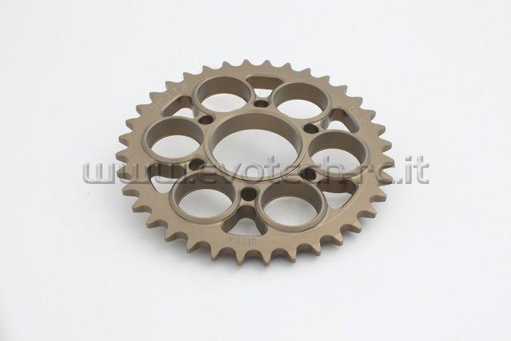 Ducati Sprocket hard surface 520 thread 34-42 teeth http://www.evotech-rc.it/prodotto/13225/corona-ducati-panigale-1199-r-s-abs-34-42-denti-passo-520#ad-image-0