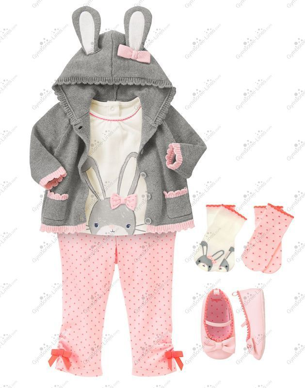 Gymboree Cottontail Cutie Outfit (Girl - Layette/Newborn) - Gymboree Lines