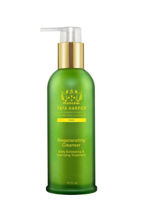 Tata Harper Regenerating Cleanser, $78; nordstrom.com. Now one of the most celebrated natural beauty brands, Tata Harper's first-class exfoliating cleanser is one of the best. It gently scrubs away impurities and clarifies with a mixture of oils and enzymes that prevent any further breakouts. Use for an extra glowing skin effect.