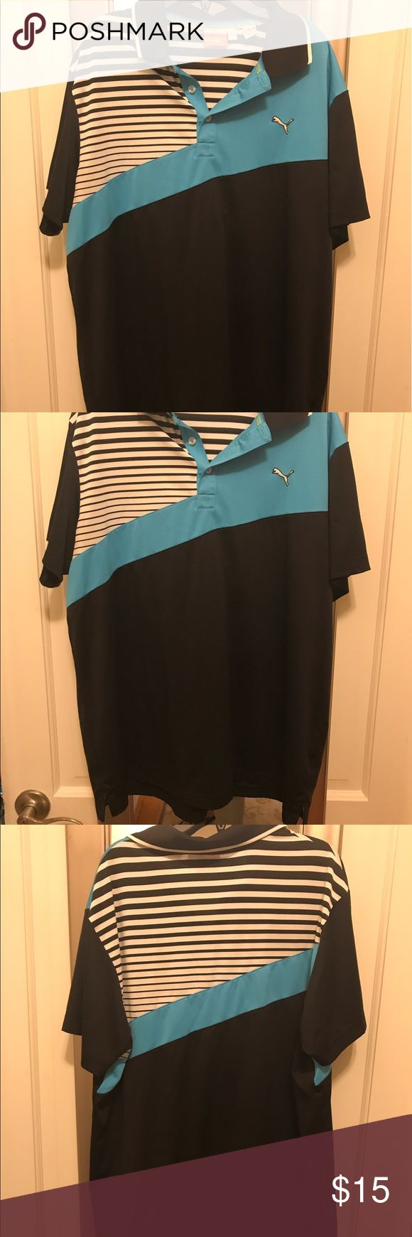 Puma golf polo shirt Sz L Puma golf polo shirt Sz L, great pre owned condition! Puma Shirts Polos