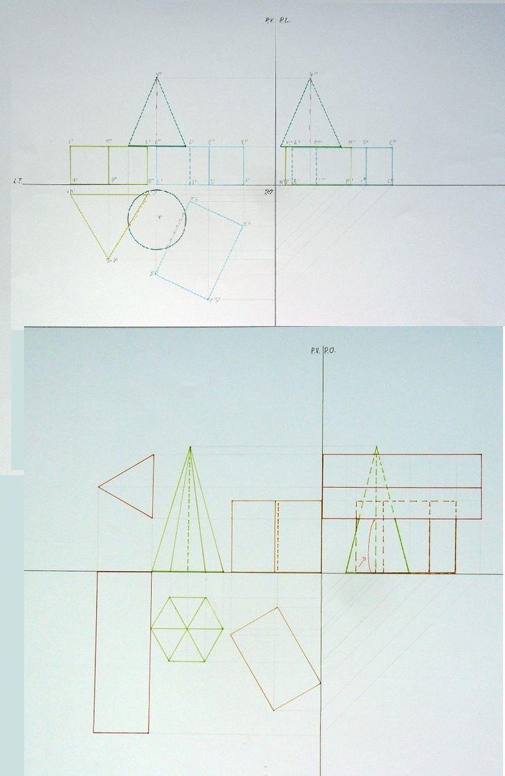 proiezioni gruppi di solidi in posizione normale