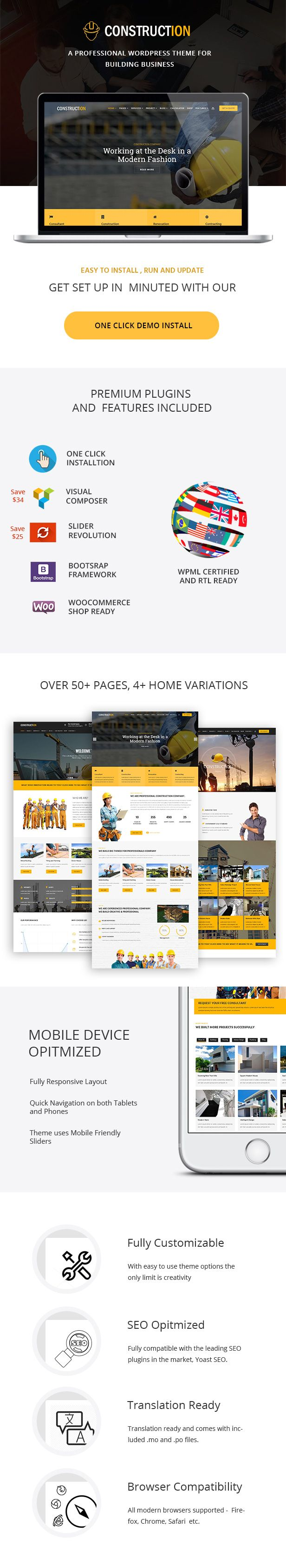 Construction - A Professional WordPress Theme for Construction & Building Business by catchpixel