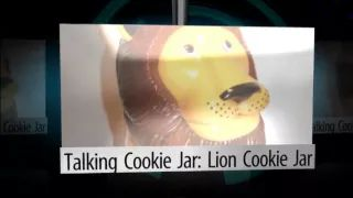 Talking Cookie Jar: Lion Cookie Jar - YouTube